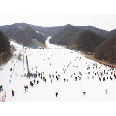 栾川伏牛山滑雪开业了