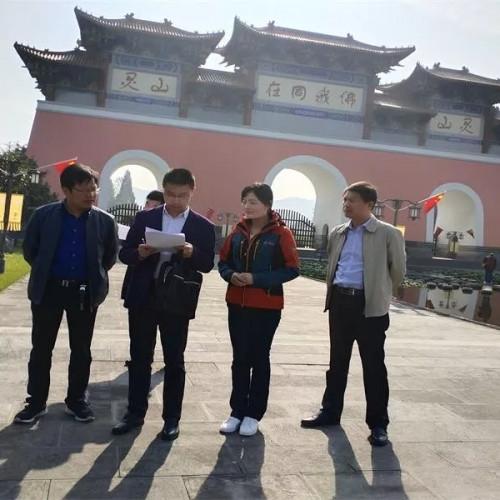 灵山风景区积极迎接省级文明风景旅游区复查验收考评