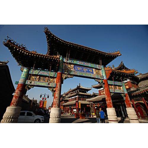 杨柳青古镇石家大院对外恢复开放