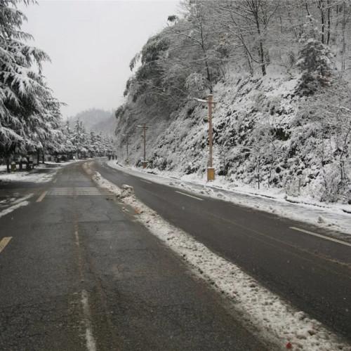 老君山景区提供免费姜汤,在寒冷的冬季里帮游客驱寒送温暖